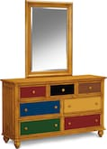 Kids Furniture-Riley Pine Dresser & Mirror