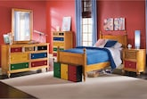 Kids Furniture-The Riley Pine Collection-Riley Pine Twin Bed