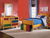 Kids Furniture-Riley Pine 5 Pc. Full Bedroom