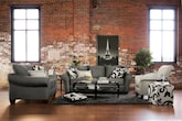 Living Room Furniture-The Harlow Gray Collection-Harlow Gray Sofa