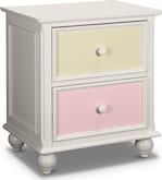 Kids Furniture-Riley White Nightstand