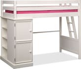 Kids Furniture-Riley II White Loft Bed
