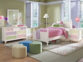 Kids Furniture-Riley White 6 Pc. Full Bedroom