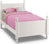 Kids Furniture-Riley White Full Bed
