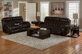 Living Room Furniture-The Remington II Collection-Remington II Power Reclining Sofa