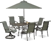 Outdoor Furniture-Candler 9 Pc. Outdoor Dining Room
