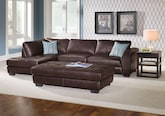 Living Room Furniture-The Lyon Brown Collection-Lyon Brown 2 Pc. Sectional