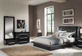 Bedroom Furniture-Prima Black 5 Pc. King Bedroom (Alternate)