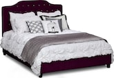 Bedroom Furniture-Layla Purple Queen Bed