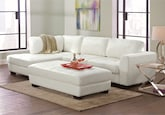 Living Room Furniture-The Lyon White Collection-Lyon White 2 Pc. Sectional