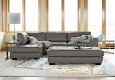 Living Room Furniture-The Lyon Gray Collection-Lyon Gray 2 Pc. Sectional
