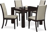 "Dining Room Furniture-Karmon Lorraine 5 Pc. Dinette (42"" Table)"