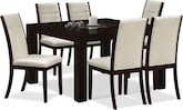 "Dining Room Furniture-Karmon Lorraine 7 Pc. Dinette (50"" Table)"
