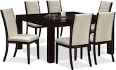 "Dining Room Furniture-Karmon Lorraine 7 Pc. Dinette (60"" Table)"