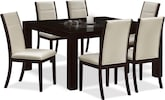 "Dining Room Furniture-The Karmon Lorraine Collection-Karmon Lorraine 7 Pc. Dinette (60"" Table)"