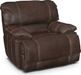 Living Room Furniture-Clinton Brown Power Recliner