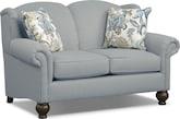 Living Room Furniture-Caroline Blue Loveseat