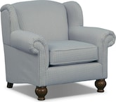 Living Room Furniture-Caroline Blue Chair