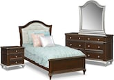 Kids Furniture-Samantha 6 Pc. Twin Bedroom