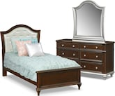Kids Furniture-Samantha 5 Pc. Full Bedroom