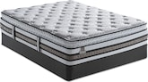 Mattresses and Bedding-iSeries Merit SPT Queen Mattress/Foundation Set