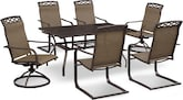 Outdoor Furniture-Ridgeville 7 Pc. Outdoor Dinette