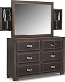 Bedroom Furniture-Caleb Dresser & Storage Mirror