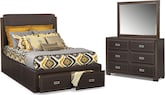 Bedroom Furniture-Caleb 5 Pc. King Storage Bedroom