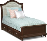 Kids Furniture-Samantha Twin Bed with Trundle