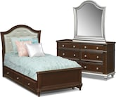Kids Furniture-Samantha 6 Pc. Full Bedroom with Trundle
