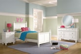 Kids Furniture-Mayflower White 6 Pc. Full Bedroom
