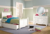 Kids Furniture-Mayflower White 6 Pc. Twin Bedroom with Trundle