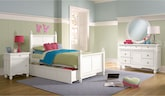 Kids Furniture-Mayflower White 7 Pc. Twin Bedroom with Trundle
