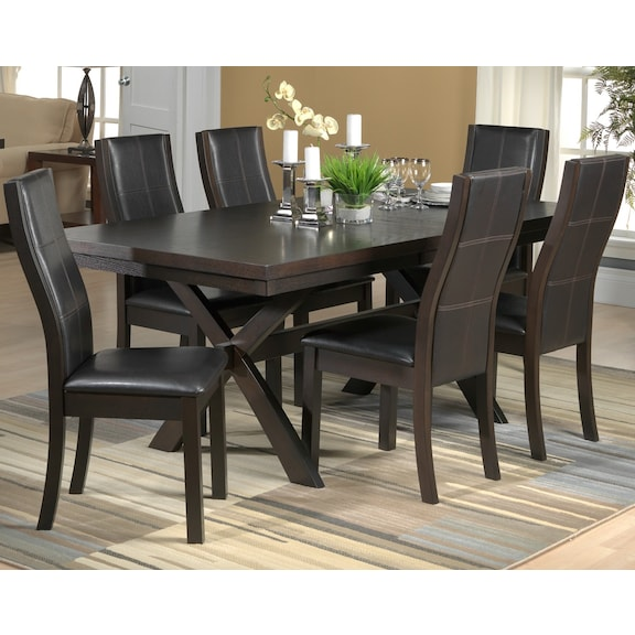 Grethell 7 Pc Dining Room Package Espresso Leon 39 S