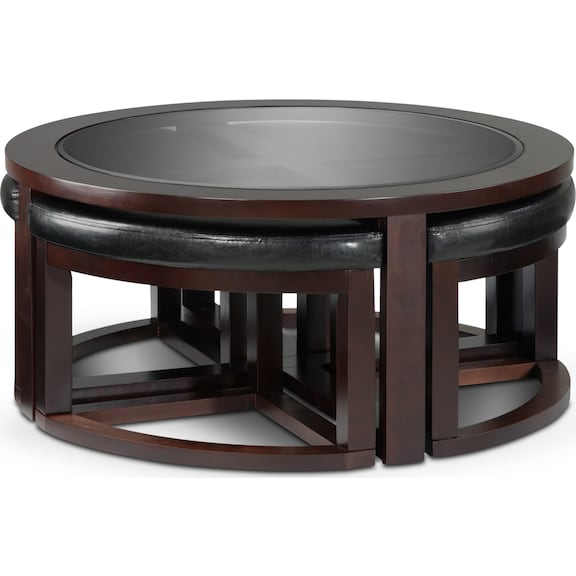 Emma Coffee Table W Four Ottomans Leon 39 S
