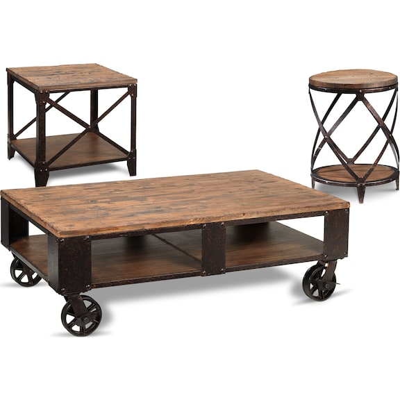 Pinebrook Coffee Table Two End Tables Set Leon 39 S