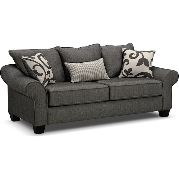 Living Room Furniture - Colette Gray Sofa