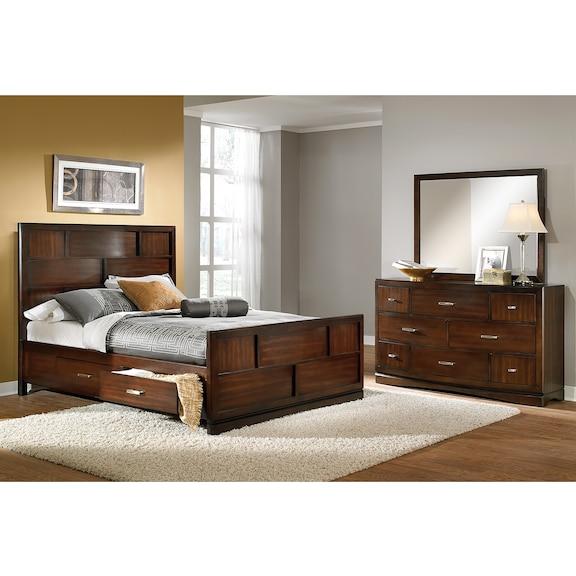 Toronto 5 pc queen storage bedroom value city furniture Bedroom furniture toronto