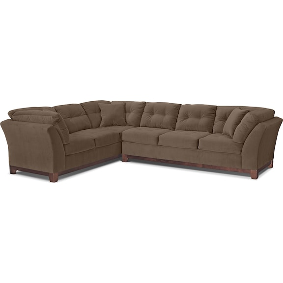 Living Room Furniture - Solace Cocoa II 2 Pc. Sectional