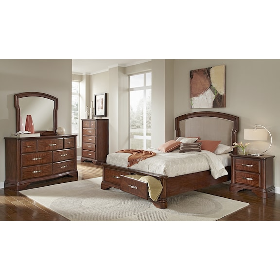 vanderbilt bedroom collection value city furniture