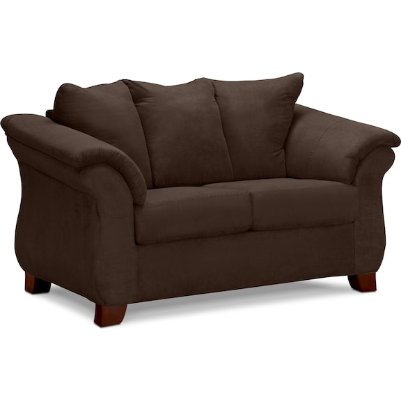 Adrian Loveseat Chocolate Value City Furniture