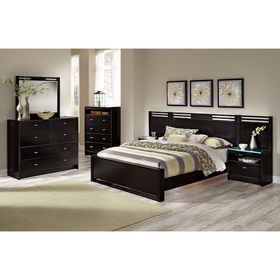 bally espresso ii bedroom collection value city furniture