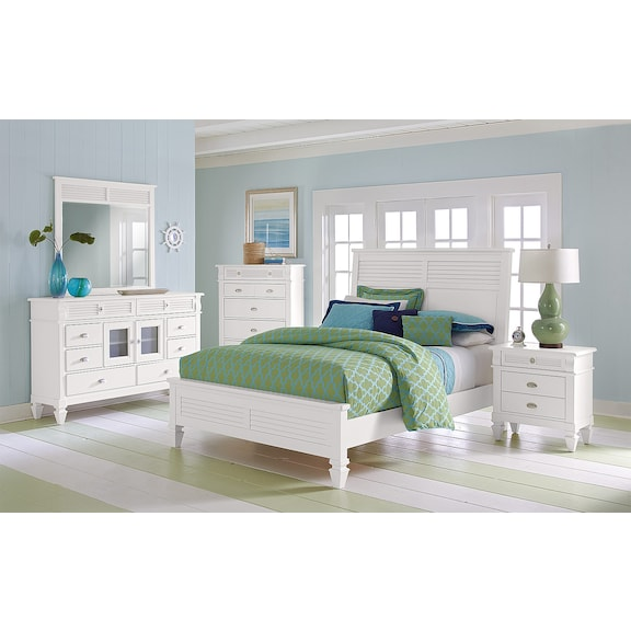 American Signature Furniture Charleston Bay White Bedroom Collection