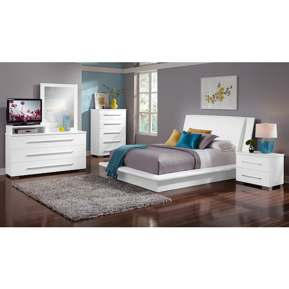 carly 6 piece twin bedroom set white american