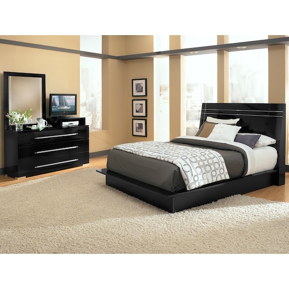 dimora bedroom set dimora black ii 5 pc bedroom value city furniture 11428