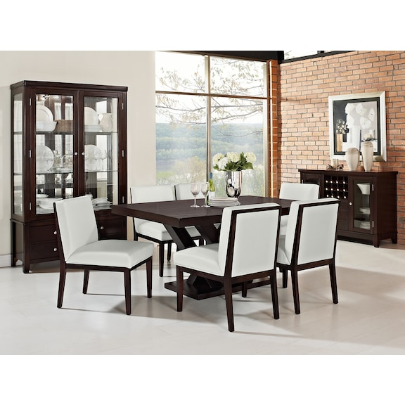 Tempest dining room collection value city furniture for Dining room tables value city