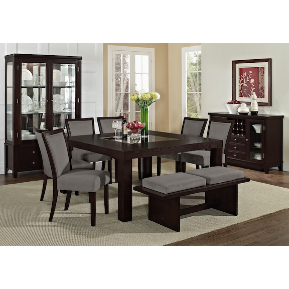 american signature furniture tango gray dining room