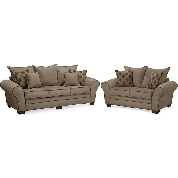 Living room furniture rendezvous iii 2 pc living room