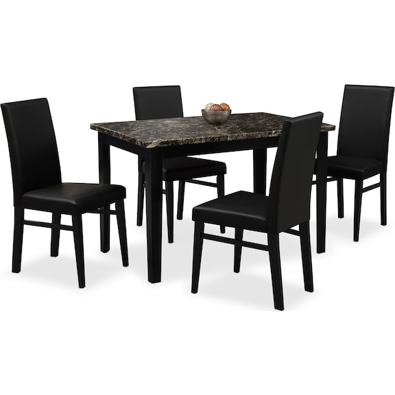 shadow 5 pc dinette value city furniture