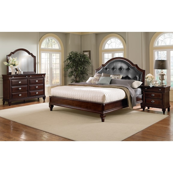 Bedroom Furniture Manhattan 6 Pc King Bedroom